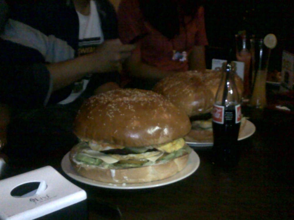 the biggest burger in town (I think)