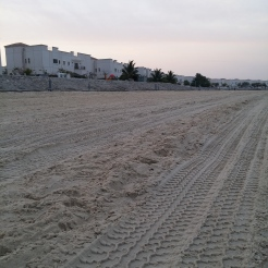 Villas beside the sand beach