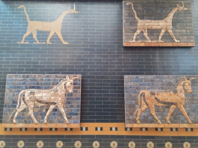 Glazed-brick tiles from Babylonian era. - Istanbul Archaeological Museum