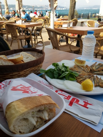 Lunch by the Bosphorus Straits.