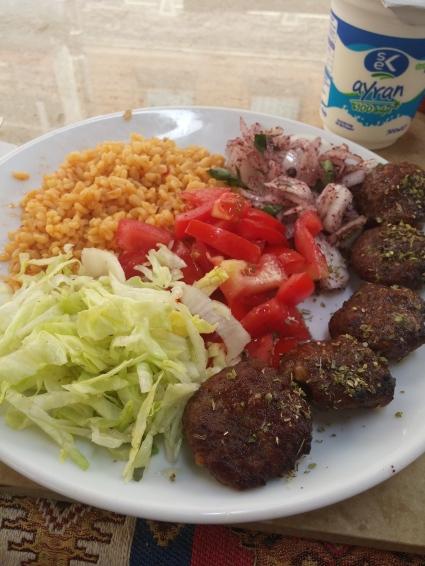Eat kofte, with ayran
