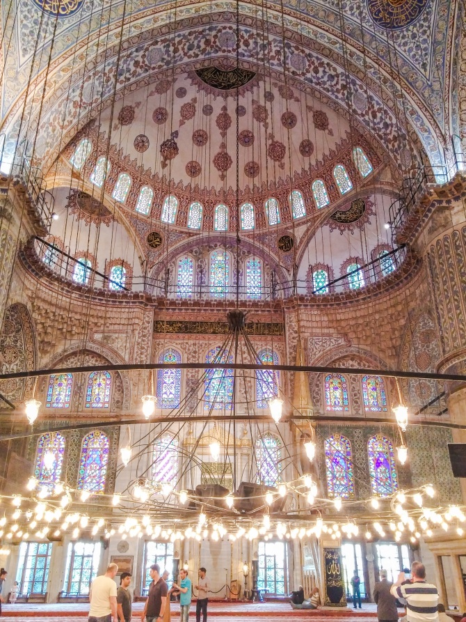 Beautiful ceiling of Blue Mosque
