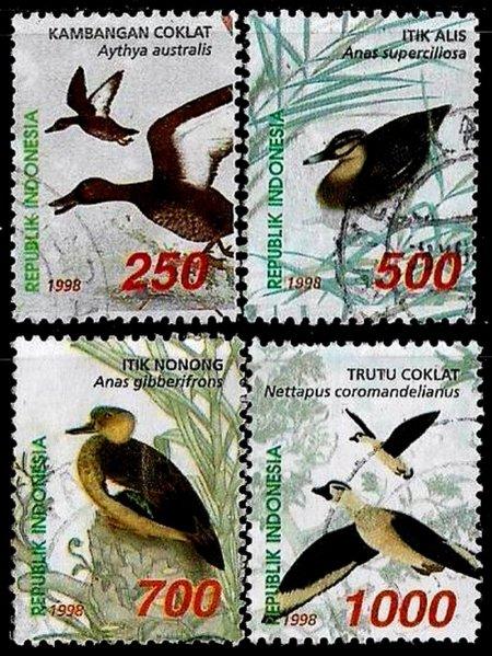 I_554_1730_1733_Perangko_Prangko_Indonesia_1998_Bebek_Seri_2